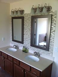 Brilliant Bathroom Vanity Glass Tile Backsplash Of Kitchen 24
