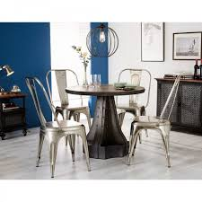 evoke industrial furniture round dining table