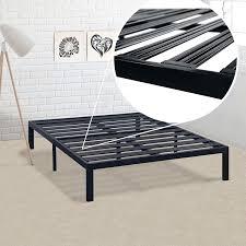 California King Metal Platform Bed Frame with Heavy Duty Slats ...