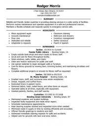 Resume Templates Custodian Lead Exceptional Summary Duties Skills