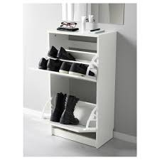 Ikea Shoe Drawers Bissa Shoe Cabinet With 2 Compartments White 49x93 Cm Ikea