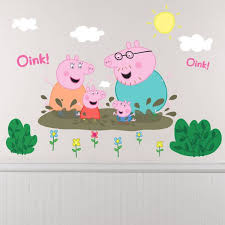 peppa pig wall decals 14ct on peppa pig wall art stickers with peppa pig wall decals 14ct all for akari pinterest wall decals