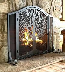 decorative fireplace doors ideas screen and fire gas glass closed decor decorative fireplace