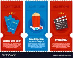 Cinema Ticket Flyer Set