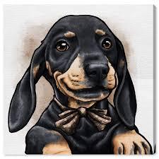 Dapper Dachshund Designs Amazon Com The Oliver Gal Artist Co Animals Wall Art