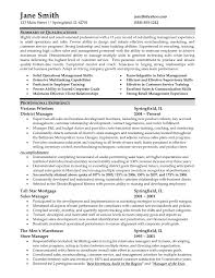 Retail Sales Manager Resumes Sample Resume For Retail Management Job