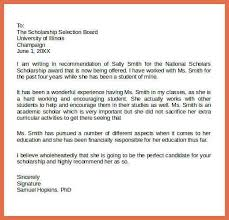 example re mendation letter scholarship re mendation letters examplee