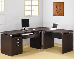 contemporary home office desks. Decorating Surprising Home Office L Desk 2 Great Shaped 61 In Stylish Ideas With Contemporary Desks