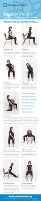 sitting down on the job try 9 easy chair yoga poses infographic