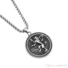 whole new men vintage lion discs pendant necklaces stainless steel design jewelry 27 5box chain fashion hip hop chain necklace men gifts cat pendant