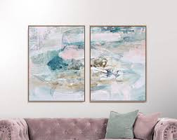 set of 2 prints abstract art prints large wall art 30x40 print printable abstract art gold and pink instant download art pink art set on abstract wall art set of 2 with abstract art print etsy