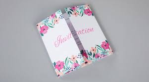 Folded Wedding Invitations Print Wedding Stationery