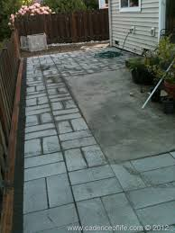 pavers around concrete patio ideas