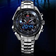 tripleclicks com tvg 468 men 3 dial led display analog digital tvg 468 men 3 dial led display analog digital military wrist watch