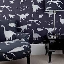 Purple Wallpaper Bedroom Dya Think E Saurus Boys Dinosaur Wallpaper Purple Chair And