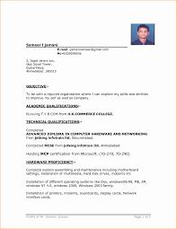 Job Application Resume Format Resume Format Sample For Job