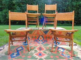 hans wegner set of folding hemp chairs made in yugoslavia sold