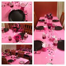Pink And Black Minnie Mouse Decorations Pink And Black Minnie Mouse Birthday Party The Casual Craftlete