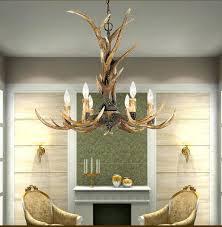antler chandelier country 6 head candle resin antler chandelier lighting retro deer horn art for