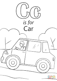 Letter C is for Car coloring page | Free Printable Coloring Pages