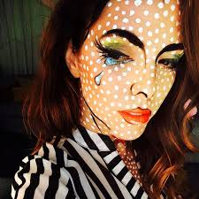totally fun and unique roy lichtenstein inspired costume makeup and face paint pop art cartoon