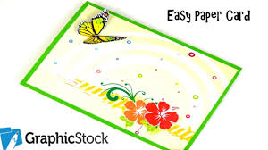 how to make an easy paper card using graphic stock diy paper crafts birthday gift ideas