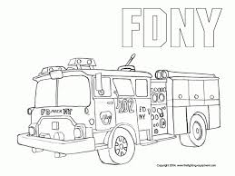 Small Picture Get This Simple Fire Truck Coloring Page to Print for Preschoolers