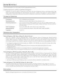 Network Technician Resume Objective Ideas Collection Engineering