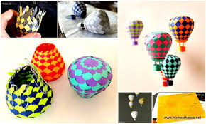 extraordinary creative diy paper art project colorful hot air balloon mobile template included