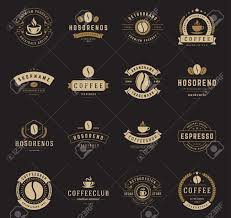 Cafe Design Logo Coffee Shop Logos Badges And Labels Design Elements Set Cup
