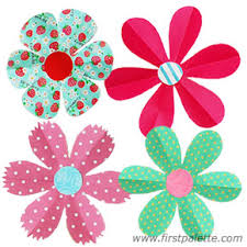 Paper Flower Pattern Extraordinary Folding Paper Flowers Craft 48Petal Flowers Kids' Crafts