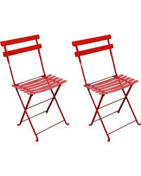 folding bistro chairs metal. mobel designhaus french café bistro folding side chair, flame red frame, steel metal slats chairs