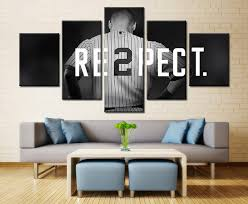 5 piece new york yankees captain baseball canvas painting frames it make your day on yankees canvas wall art with 5 piece new york yankees captain baseball canvas paintings for sale