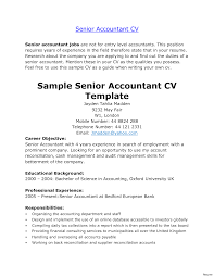 Entry Level Accounting Job Resume Senior Accountant Resume Fungramco 45