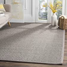 safavieh natural fiber contemporary geometric jute light grey grey area rug 8 x 10 is a handmade rugs that is made from jute mainly use for indoor