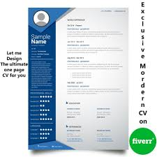 How To Make A One Page Resume Make Professional One Page Cv By Chinmoydhar