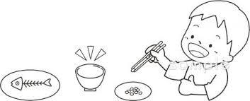練習 箸の持ち方イラストなら小学校幼稚園向け保育園向けの