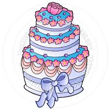 Cartoon Wedding Cake With Ribbon By Clairev Toon Vectors Eps 39238