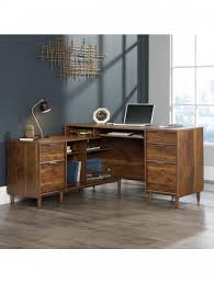 home office desk l shaped. Home Office Desks - Clifton Place L-Shaped Walnut Desk 5421120 Enlarged View L Shaped E