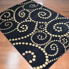 delectably yours com contempo swirl black area rug 5x8 8x10