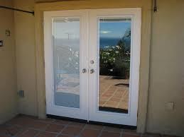 double exterior door with blinds