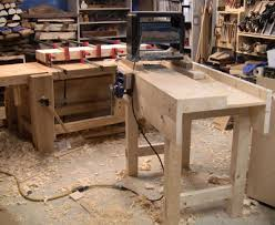 roy underhill workbench. i ran the planer on bench #1. roy underhill workbench