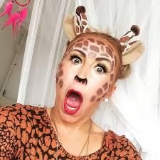 scary giraffe makeup design