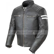 mens classic joe rocket black leather motorcycle jacket