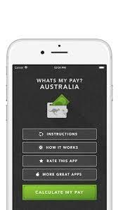 Pay Calculator Australia Income Calculator Australia 2018 Whats My Pay Iphone App