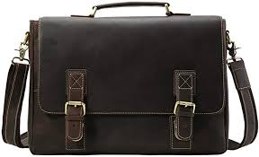 Liuzecai <b>Mens</b> Leather Messenger Briefcase Premium <b>Office</b> ...