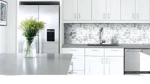 modern white metal tile gray and backsplash kitchen glass