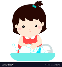 cute washing hands vector image