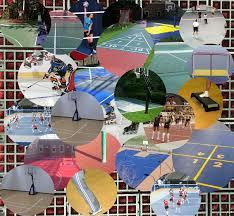 outdoor basketball court tiles