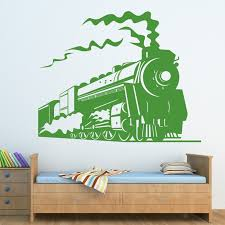 steam train wall sticker transport trains wall decal boys bedroom home decor